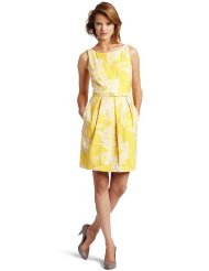 Eliza J Womens Vintage Cotton Sundress, Yellow, 14