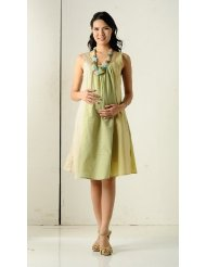 Women's KC&PP Sleeveless Pocket Contrast Cotton Sundress (Maternity) - More Colors Available