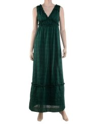Cotton Sundress Grecian marine plaid maxi silhouette