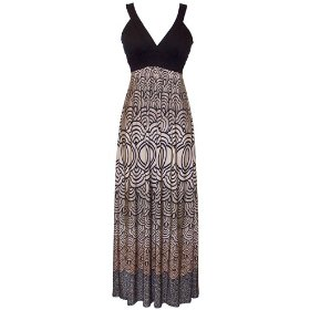 Japanese Motif Maxi Holiday Party Cocktail Sundress