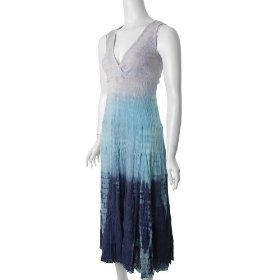 Cute Options Sleeveless Tie-dye Maxi Sun Dress