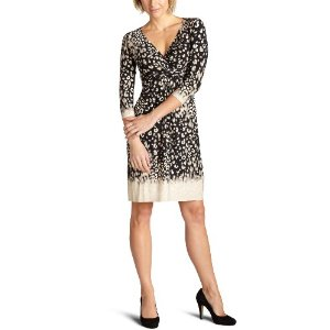 donna morgan Women's 3/4 Sleeve Leopard Print Matte Jersey Dress