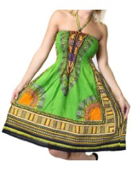 Alki'i Women's One-size-fits-all Tube Sun Dress for Women/Coverup with African Print