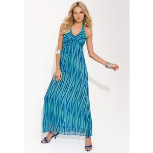 Long Sundress - metrostyle Graphic Print Maxi Dress