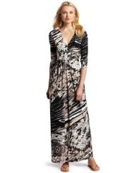 BCBGMAXAZRIA Women's Pearl Wrap Maxi Dress