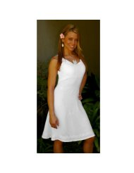 Lined white summer dress for Women