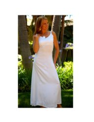 Long White Summer Dress White Sundress for Women