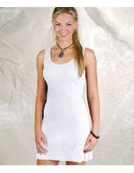 LAT Junior 2X1 Rib Tank White Sundress