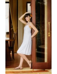 Women's White Summer SunDress